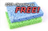 Your 10th Cleaning Service is Free!